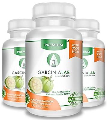 3 Pack 95% HCA Garcinia Cambogia 100% Pure Extract 1540 MG USA Made