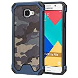 MOONCASE Galaxy A5 2016 Case, Camouflage [Shock Absorption] Durable Hybrid Dual Layer 2 in 1 Anti-Slip TPU Case Cover for Samsung Galaxy A5 (2016) A510F Blue
