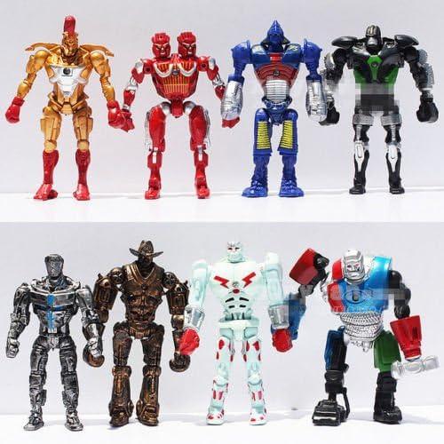 Amazon.com: Unbranded 8X Real Steel Movie Atom Noisy Boy Midas Twin Cities Zeus PVC Action Figure: Toys & Games