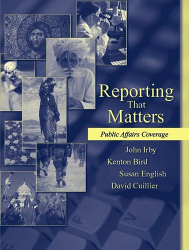 Reporting That Matters: Public Affairs Coverage by Pearson