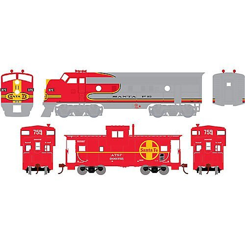 Athearn - HO Warbonnet Train Set  SF by Athearn