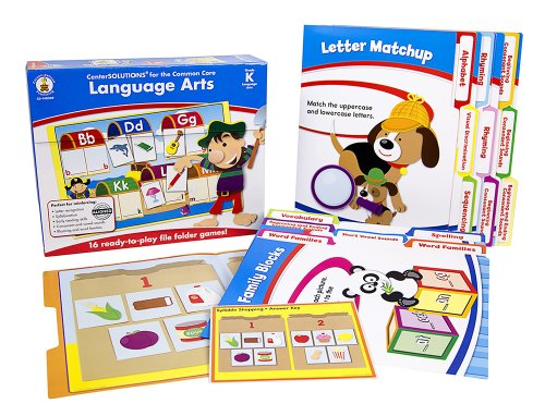 Language Arts File Folder Games (Carson Dellosa Language Arts File Folder Game (140309))