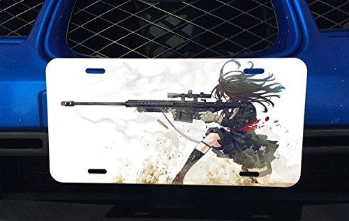 Anime Sniper Girl Aluminum License Plate for Car Truck Vehicles (Anime License Plate)
