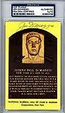 Joe DiMaggio Signed HOF Plaque Postcard - PSA/DNA Authenticated