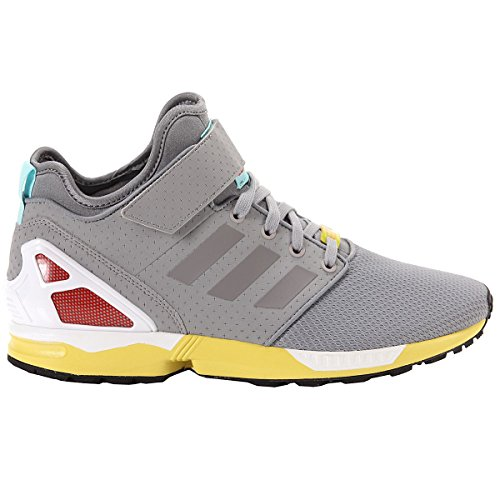 adidas Donna, ZX Flux NPS Mid, Mesh/Pelle, Sneakers Alte, Bianco