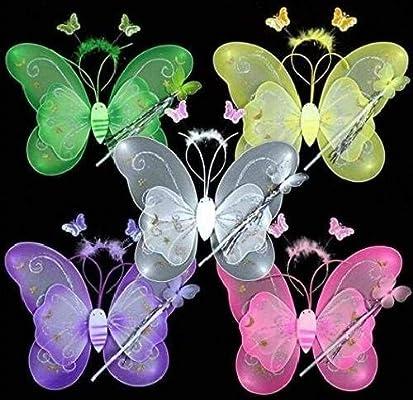 Conjunto de 3 mariposas para disfraz de hada para niños: alas de ...