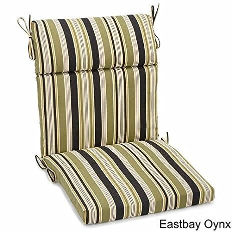 Amazing Blazing Needles 42 X 20 Inch Designer Outdoor Chair Cushion   Eastbay Onyx