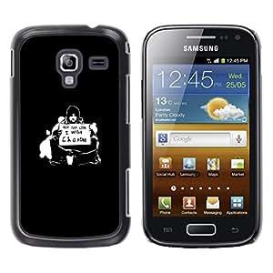 A-type Arte & diseño plástico duro Fundas Cover Cubre Hard Case Cover para Samsung Galaxy Ace 2 (¿Quieres Cambio)