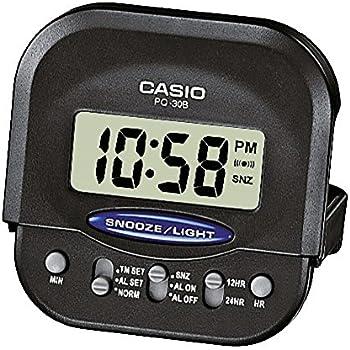 Amazon.com: Casio Compact Digital Beep Black Alarm Clock