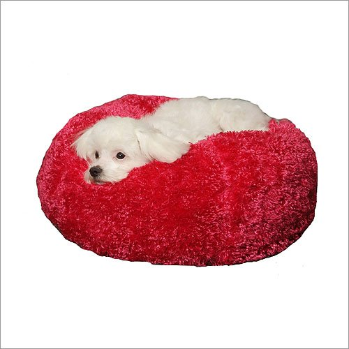 Paus Silky Fleece Ball Bed – Azalea Pink Xs – 18 Inch, My Pet Supplies