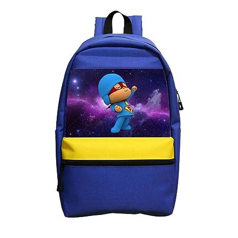 Super Pocoyo mochila escolar casual mochila impermeable mochila para niños adolescentes
