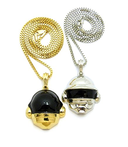 "Musician Space Helmet 3D Pendant Set w/ 2mm 24"" & 27"" for sale  Delivered anywhere in USA"