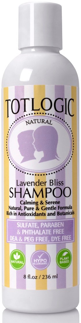 TotLogic Paraben Free Shampoo, Kids & Baby Safe - Lavender Bliss Hair Care, 8 oz, No Sulfates, No Formaldehyde