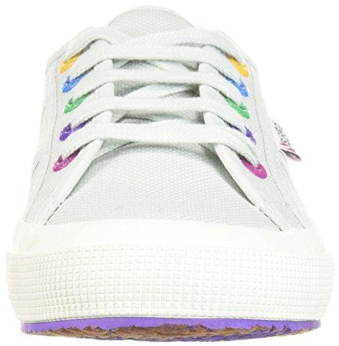 Superga Kvinder 2750 Multi Farve Snørehuller Sneaker Alluminum qHXK8D