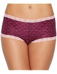 Maidenform Womens Standard Microfiber Lace Boyshort Panty