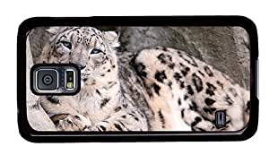Hipster silicone Samsung Galaxy S5 Cases Snow Leopard Zoo PC Black for Samsung S5