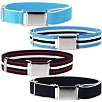 Ava & Kings 4pc Toddlers Mixed Design Adjustable Buckle Clasp Elastic Easy Belts