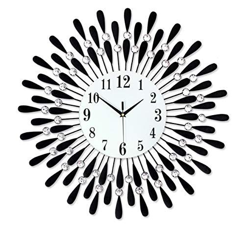 Blorrr スタイリッシュな新しいサイレント掛け時計、美しいダイヤモンド掛け時計、装飾的なリビングルームのベッドルーム、入念なアートワーク 変形なし うまく設計された   B07R291HZT