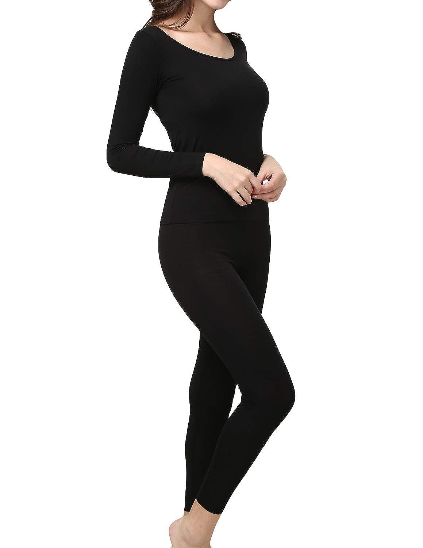 Dramaticbuying Womens Lightweight Thermal Underwear Long John Set Base Layer Top and Bottom