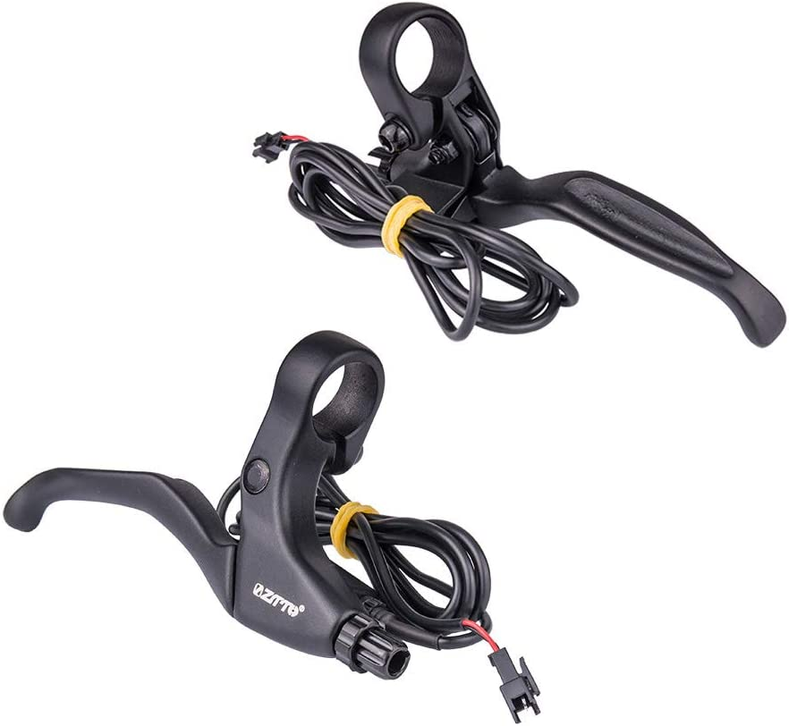 Alician 1 Pair Of Aluminum Alloy Lithium Electric Car Brake Lever With Bell Brake Lever Model SB4A