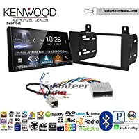Volunteer Audio Kenwood DMX7704S Double Din Radio Install Kit with Apple CarPlay Android Auto Bluetooth Fits 2004-2006 Lincoln LS