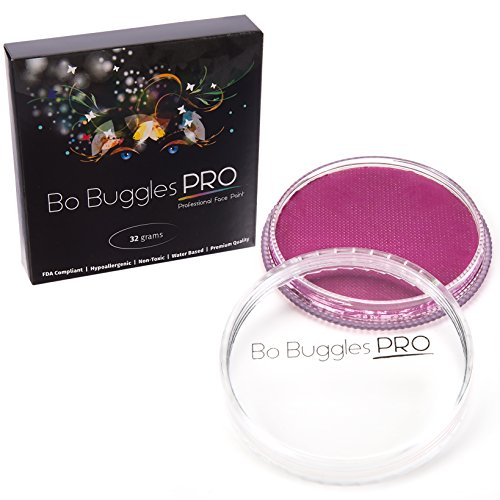 Face Paint 32 Grams Light Magenta | Classic Colors by Bo Buggles Professional | Water Activated
