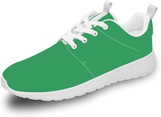 Mesllings Unisex Zapatillas de Running para Deporte Ligero Verde ...