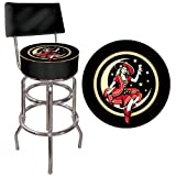 Trademark Gameroom Miller High Life Girl in the Moon Padded Swivel Bar Stool with Back