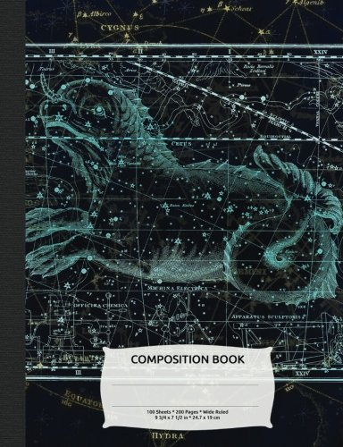 Read Online Outer Space Constellation Cetus Sea Monster Composition Book, Wide Ruled: Composition Book, Lined Student Exercise Book 200 pages (Night Sky Astronomy Series) pdf epub