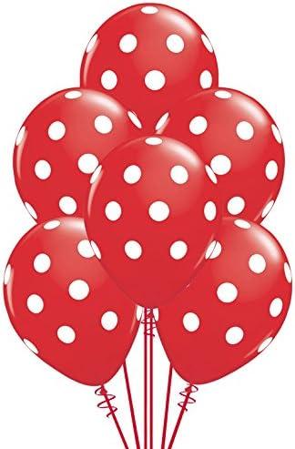 1 x LIME LIGHT GREEN POLKA DOT LATEX BALLOONS Party Favours Balloon White Dots