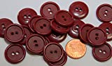 inc maroon blazers - 12 New Maroon Plastic Scrapbooking Buttons for Sewing DIY Crafts 3/4