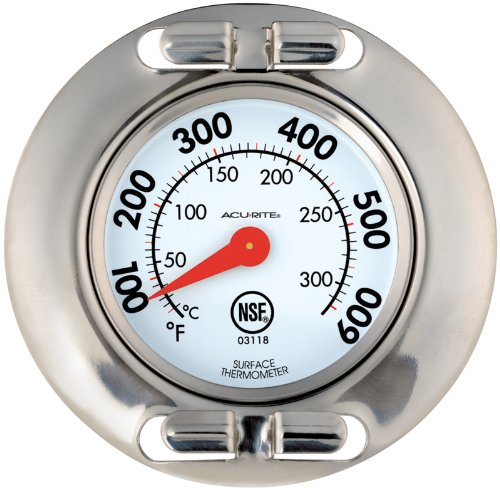 AcuRite 3118 Stainless Steel Grill Surface Thermometer
