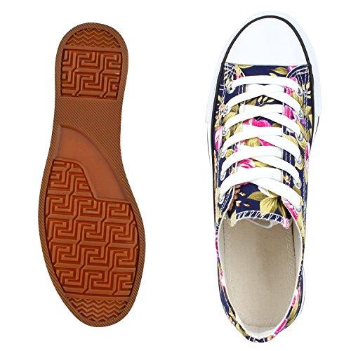 Best-botas para mujer zapatilla zapatillas zapatos de cordones estilo deportivo Dunkelblau Blu Nuovo