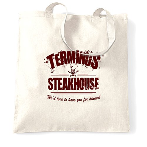Tote Size Restaurant One Bag White Steakhouse Logo White Zombie Terminus OdPwO8