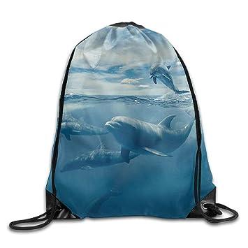 uykjuykj Bolsos De Gimnasio,Mochilas,Classic Blue Whale Drawstring ...