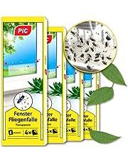 PIC Raamvliegenval, 16 stuks, gifvrije, geurloze lijmval voor het vangen van vliegen en fruitvliegjes