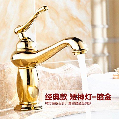Basin Faucet A Tourmeler Antique Brass Bathroom Faucets, Bronze Bathroom Faucets, European Luxury God Lamp Single Hole Faucet, J16897, Basin Faucet D