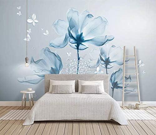 AJ WALLPAPER 3D Blue Lotus Kansas City store Mall WC043 Decal Paper Wal Print Deco Wall