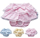 FunnyDogClothes Dog SKIRT Diaper Female Sanitary Pant Dress Ruffles Cotton For SMALL Breeds DELIVERY TIME 2-4 DAY (PINK, MEDIUM: Waist 8'' - 11'')