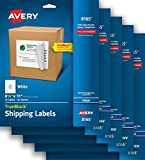 Avery Shipping Labels with TrueBlock Technology for Inkjet Printers, 8-1/2'' x 11'', 25 Labels per Pack, Case Pack of 5 (8165)