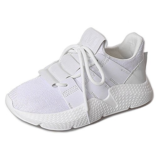Scarpe Da Corsa Sportive Da Corsa Sportive Da Donna Cybling Lace Up Casual Sneaker Per Studente Bianco