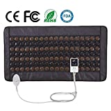 """UTK Far Infrared Heating Pad 38"""" X 21"""" Infrared Tourmaline Heating Pads for Back Pain Relief Adjustable Temp With Auto Shut Off and Travel Bag Included [ Model Medium T-Plus ]"""