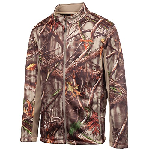 Huntworth Men's Water Repellent Soft Shell Jacket, Oak Tree EVO ,Medium - Evo Soft Shell Jacket