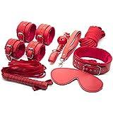 bondage latanaumida bondage fetish kit sadomaso slave master sex toy pezzi manette frustino collare corda frustino rosso