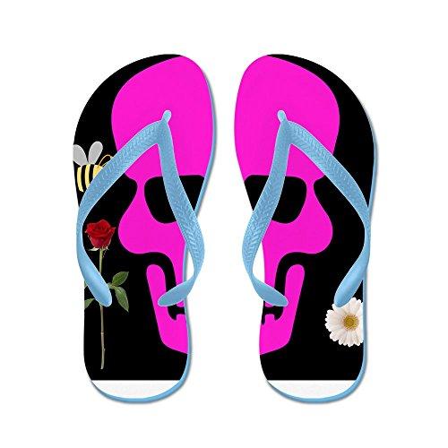 Cafepress Abby Skull - Flip Flops, Roliga Rem Sandaler, Strand Sandaler Caribbean Blue