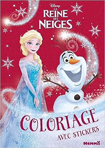 Livre Coloriage Reine Des Neiges.Disney La Reine Des Neiges Coloriage Avec Stickers Noel Amazon Fr