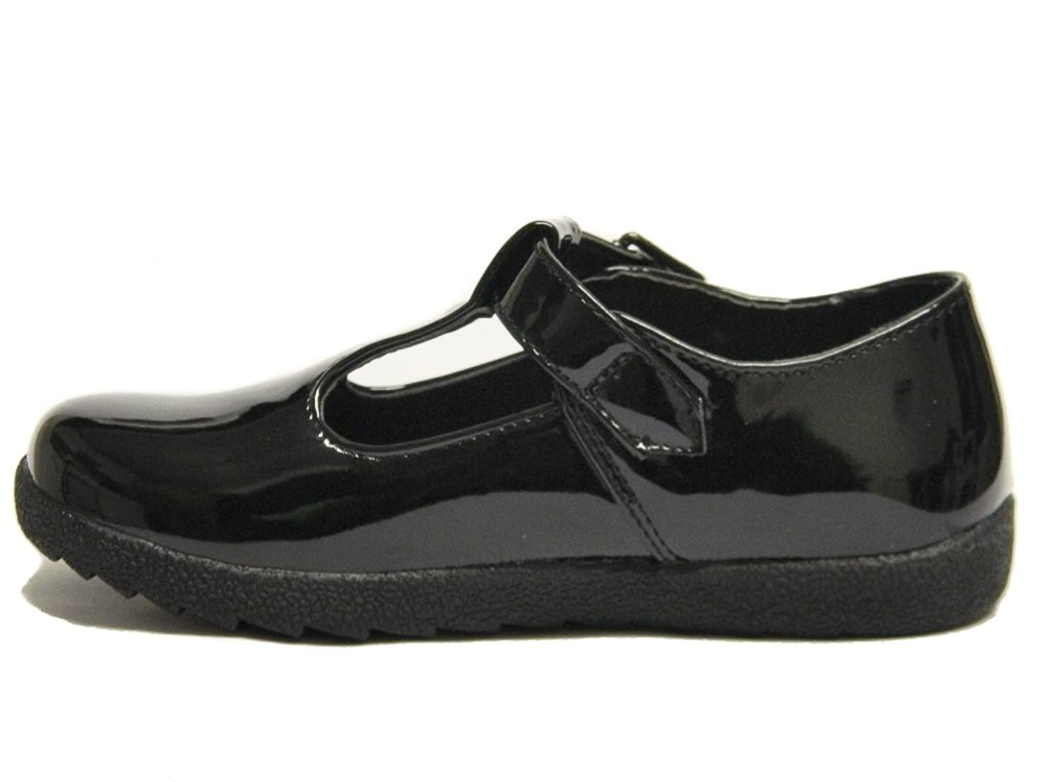 Girls Black patent school T bar formal Party shoes UK Older Kids Size 10 - 5:  Amazon.co.uk: Shoes & Bags