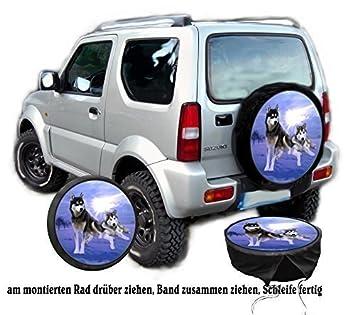 Funda para rueda de repuesto protectora Husky Perro para su Jeep: Amazon.es: Coche y moto