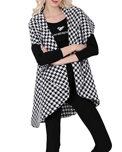 manches sans Top Cardigan Comme Vest Coat Jacket Open Women Long Front Quge Image xCIqpc
