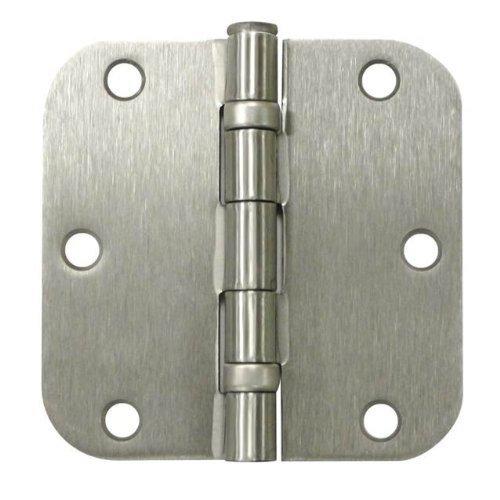 Deltana S35R5BB15 Ball Bearing Steel 3 1/2-Inch x 3 1/2-Inch x 5/8-Inch Radius Hinge